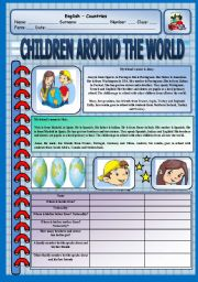 Reading Comprehension - Children around the world