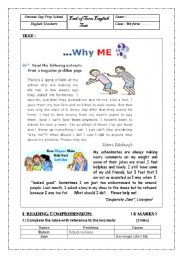 Test in english language comprising of essay precis comprehension