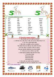 English Worksheets: sound sh
