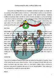 English Worksheet: CHRISTMAS TRADITIONS AROUND THE WORLD (4 PAGES)