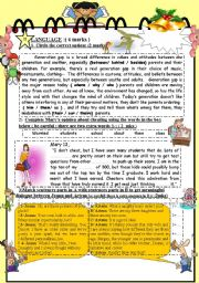 English Worksheet: FULL TERM TEST N� 1 FOR 9TH BASIC EDUCATION