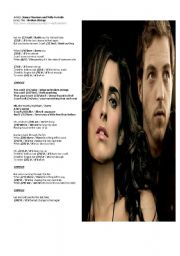 English Worksheet: PRESENT SIMPLE -- multiple choice exercise - song: «BROKEN STRINGS» by NELLY FURTADO and JAMES MORRISON