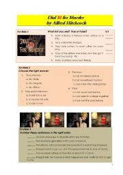 English Worksheets: Dial M for Murder - part 1