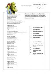 English Worksheets: Couting Crows - Accidentally in love