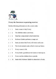 frosty th snowman sequencing exercise. Black Bedroom Furniture Sets. Home Design Ideas