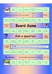 English Worksheet: Board Game - Ask a Question (Medium)