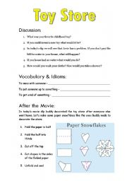 English Worksheets: Elf (part 4 of 9)