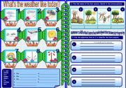 English Worksheets: weather and seasons 1