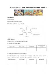 English worksheet: snow white and the seven dwarfs