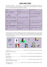 English Worksheet: I wish and if Only worksheet