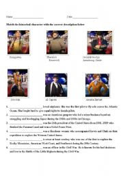 English Worksheets: Night at the Museum: Battle of the Smithsonian Historical Characters