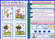 English Worksheets: weather and seasons 2