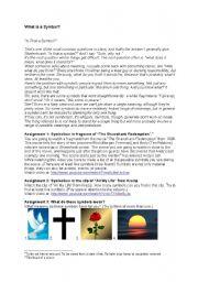 English Worksheets: Symbols and symbolism