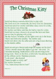 English Worksheet: The Christmas Kitty - A story for Young Readers