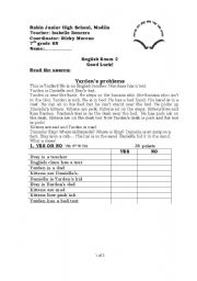 English Worksheets: yarden�s problems