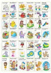 English Worksheet: 42 reward stickers