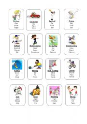 English Worksheets: Sports Taboo cards 1/2