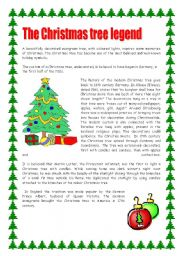 The Christmas tree legend  / 2 pages