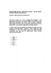 English Worksheets: Questions about Boots the Chemist
