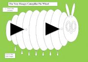 English Worksheets: The Very Hungry Caterpillar Wheel Craft
