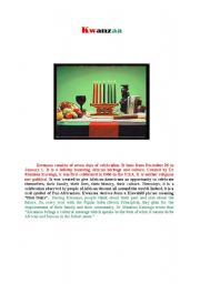 English Worksheets: Kwanzaa