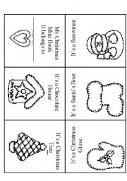 English Worksheet: Christmas Mini Book, Reading 2 Sheets