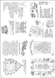 English Worksheet: My Christmas mini book  2