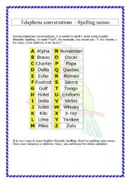 spelling names 2 pages theory and exercises. Black Bedroom Furniture Sets. Home Design Ideas