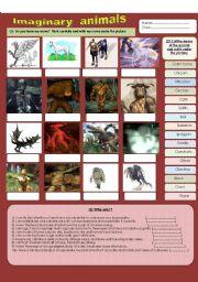 English Worksheets: Imaginary animals (part 1)