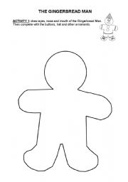 English Worksheet: The Gingerbread Man - activities