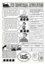 English Worksheet: INDUSTRIAL REVOLUTION AND THE SIMPSONS