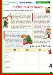 English Worksheets: Christmas Set (7) -