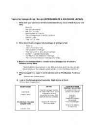 English Worksheets: Compositions