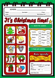 English Worksheets: IT�S CHRISTMAS TIME