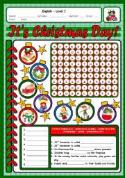 English Worksheets: IT�S CHRISTMAS DAY 3