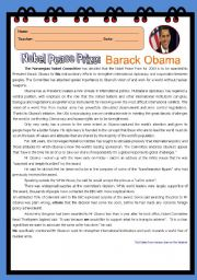 Nobel Peace Prize: Barack Obama
