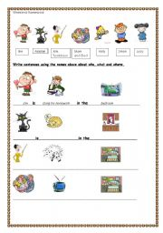 English Worksheet: MOVERS STYLE HANDOUT