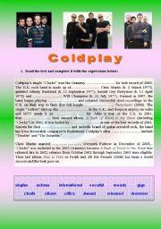 English Worksheets: Viva la vida - Coldplay