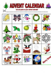 esl kids worksheets advent calendar. Black Bedroom Furniture Sets. Home Design Ideas