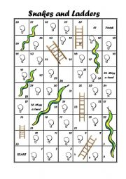 Snakes and ladders worksheets for Snakes and ladders printable template