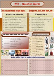 English Worksheets: Question Words - WH 1