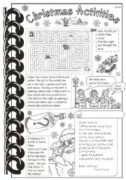 English Worksheets: Christmas Activities