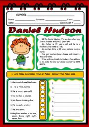 English Worksheets: PERSONAL INFORMATION ( 2 PAGES)