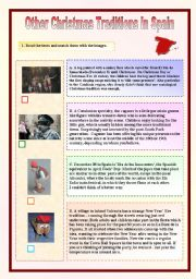 English Worksheet: Other Christmas Traditions in Spain