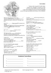 English Worksheet: Jason Mraz - I´m Yours Worksheet