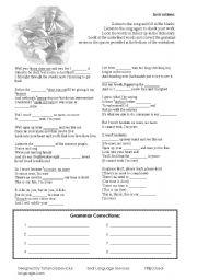 English Worksheets: Jason Mraz - I�m Yours Worksheet