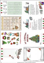 English Worksheet: My Christmas mini book 3