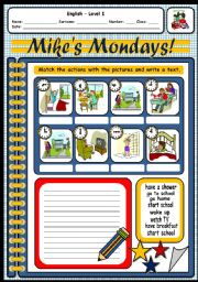 English Worksheets: MIKE�S ROUTINE