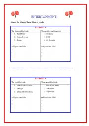 English Worksheets: Guess the title of this book / film