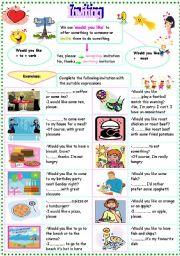 English Worksheets: inviting